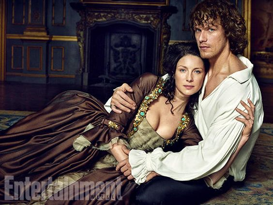 """Of his relationship with co-star Caitriona Balfe, Sam Heughan tells EW, """"She's just wonderful. We're very good friends.""""    Image Credit: MARC HOM for EW #Outlander"""
