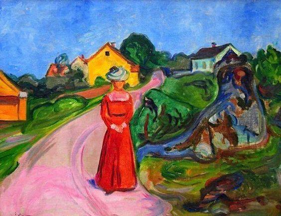 Munch, Donna col vestito rosso, 1901-03