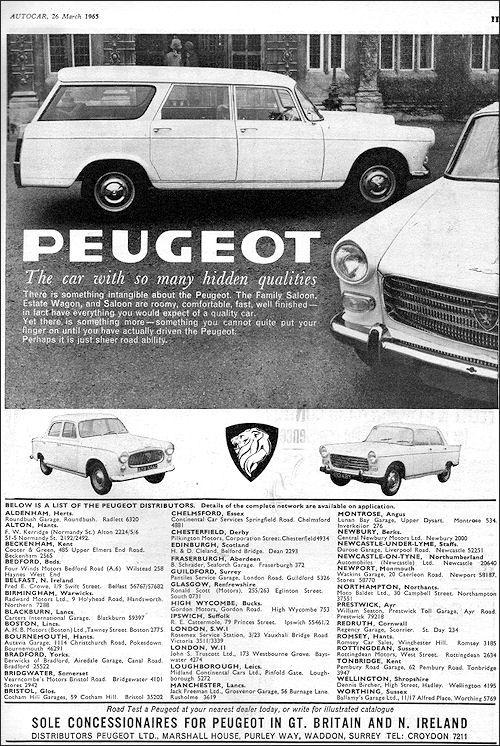 Peugeot 1965