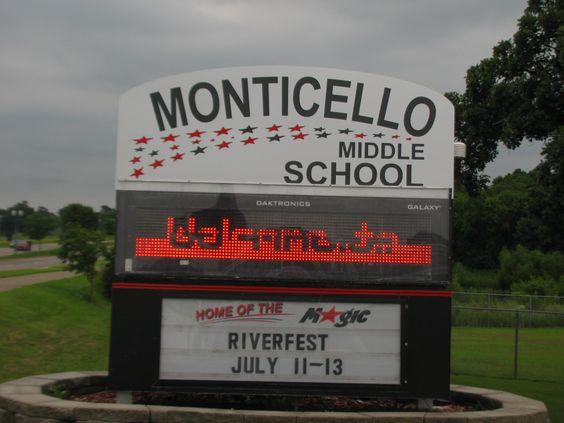 Monticello Middle School.