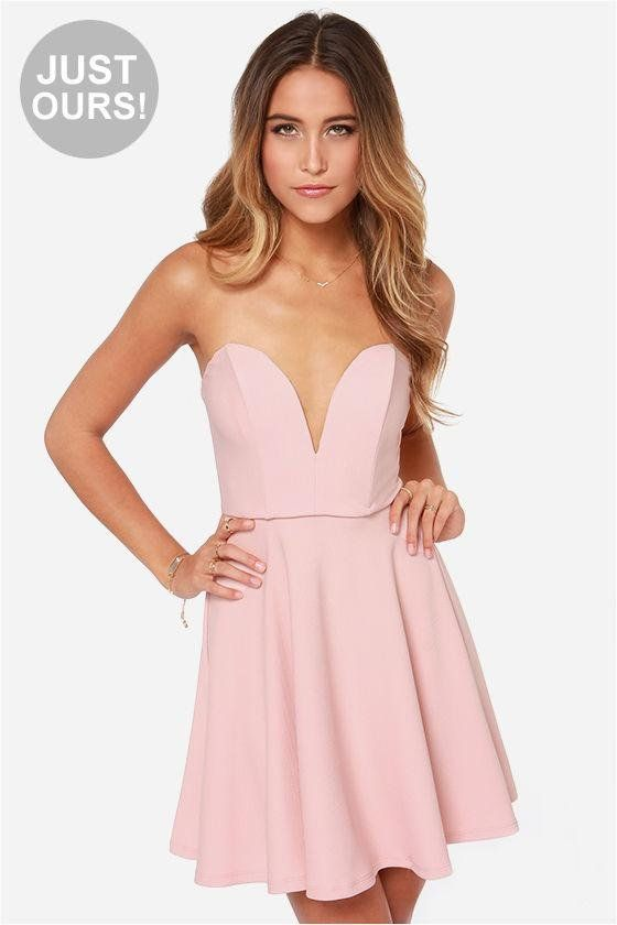 LuLu*s Exclusive! In the case of the All Good Things Strapless Blush Pink Dress the fun just neve...