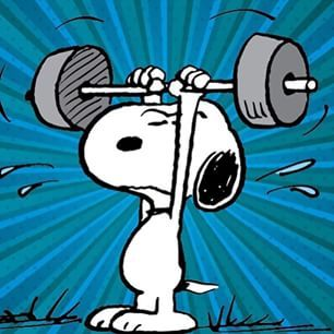 Snoopy and Weights on Pinterest