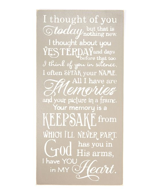 Look at this #zulilyfind! Gray 'I Thought of You Today' Wall Sign by Sara's Signs #zulilyfinds