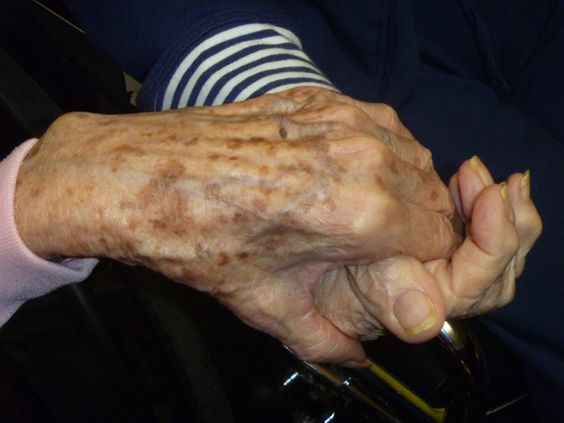 Nursing Home residents-still best friends after all of these years...