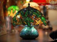 Витражная лампа стрекозы.