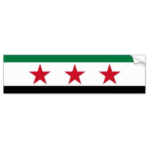 Syria Opposition Bumper Sticker Zazzle Com In 2020 Bumper Stickers Sticker Flag Syria Flag