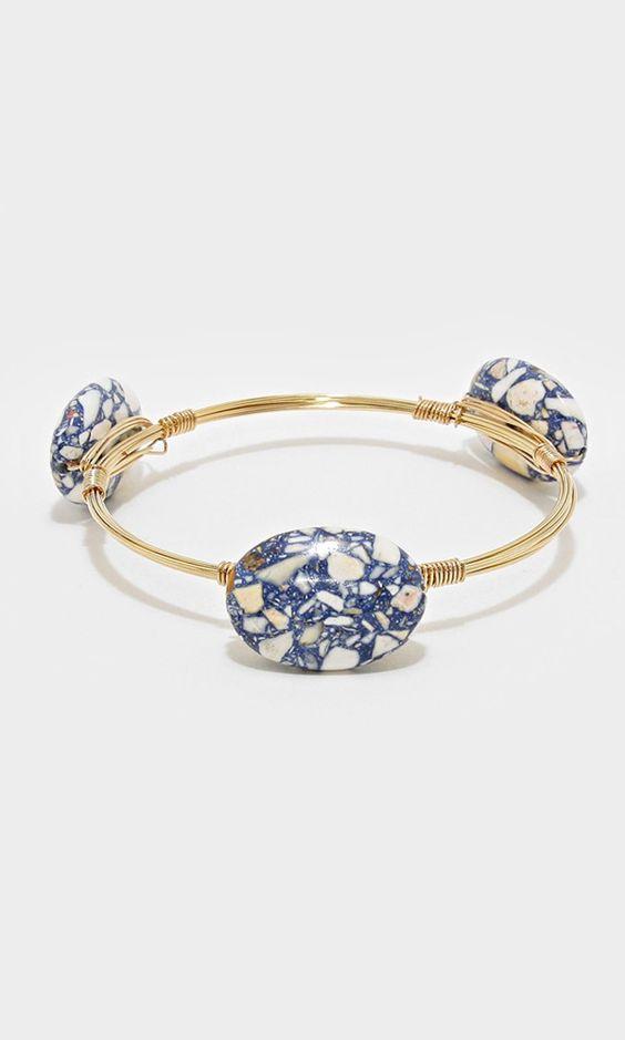 River Stone Pebble Bracelet