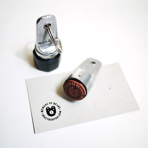 Inspection stamp business cards - great for hang tags, whenu forget a business card (attaches to keychain). Order thru Des Moines Stamp - small, long-time business/great rep: $8