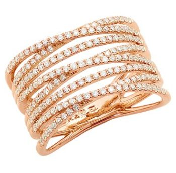 rose gold ring with one hundred and sixty nine diamonds