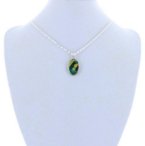 """Religoius Jewelry, Silver, Photo Charm, 16"""" Chain, St. Mary MS001 http://www.amazon.com/dp/B00XJS64PU/ref=cm_sw_r_pi_dp_k6Hywb0R50DXE"""