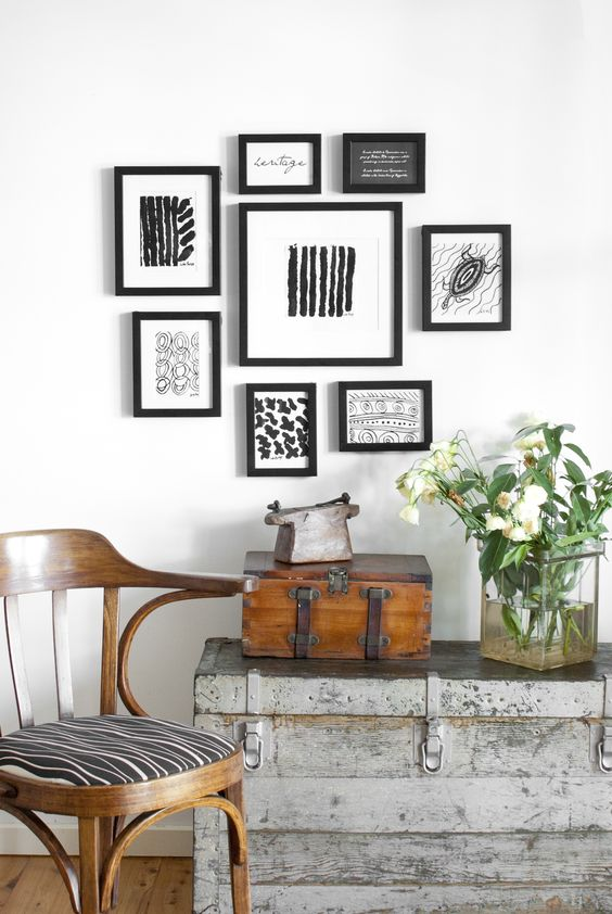 one wall one set of frames multiple looks frames