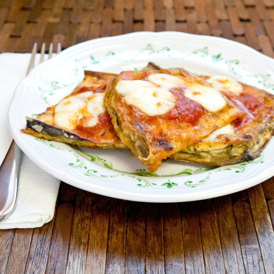 Cut the calories with this recipe for 30-minute oven-baked eggplant parmesan. Not only will you save calories, but you'll also save plenty of time by cutting out all that coating and frying.