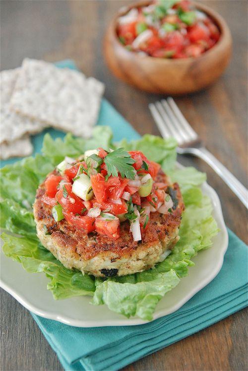 tuna cakes with fresh tomato salsa