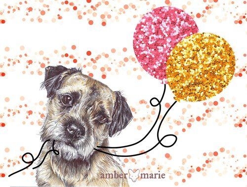 Border Terrier Birthday Card Two Woofs In 2021 Border Terrier Terrier Mothering Sunday