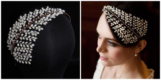Kelly Spence, a designer of fine hair accessories and wedding jewellery
