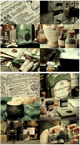 Hogwarts subjects | Potions:     Potions is a core class and subject taught at Hogwarts School of Witchcraft and Wizardry. In this class students learn the correct way to brew potions. They follow specific recipes and using various magical ingredients to create the potions, starting with simple ones first and moving to more advanced ones as they progress in knowledge. A standard potions kit includes plant ingredients such as Belladonna and supplies such as glass phials and weighing scales.