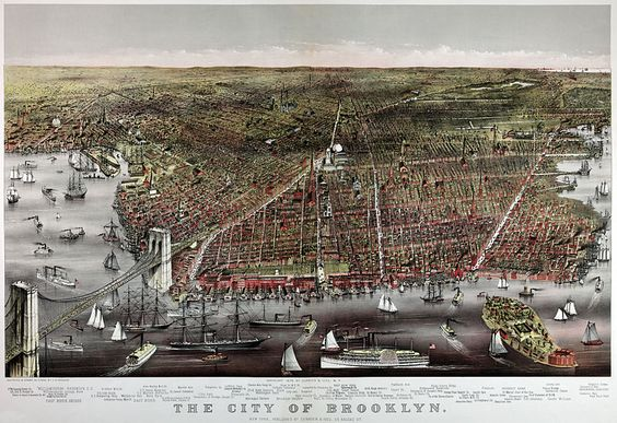 The City of Brooklyn, by Currier & Ives, 1879