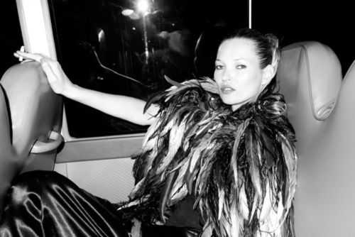 an outtake from the June/July Harper's Bazaar shoot with Kate Moss.