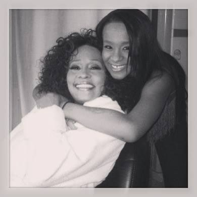 Whitney Houston and daughter Bobbi Kristina Brown (Houston)