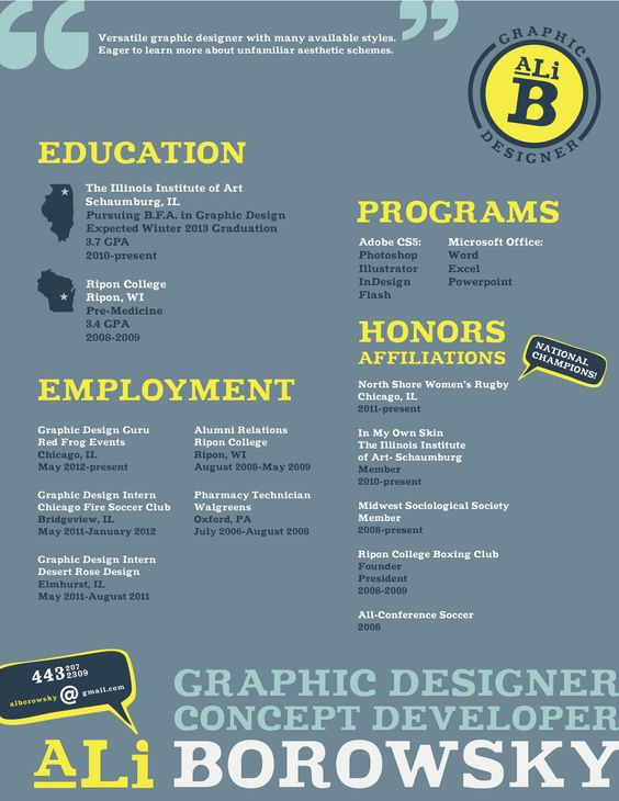 Ali Borowsky - Graphic Designer resume Resume Inspiration - soccer resume for college