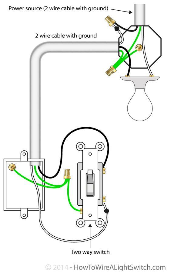 wiring diagram power through light to switch