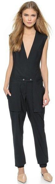 $450, Black Jumpsuit: Public School Pant Jumpsuit. Sold by shopbop.com. Click for more info: http://lookastic.com/women/shop_items/203011/redirect