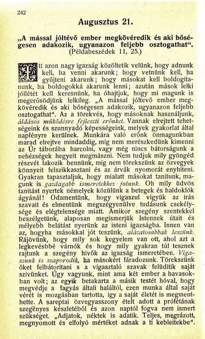 08.21. Spurgeon: Harmatgyöngyök...
