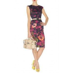 Karen Millen Floral Signature Stretch Dress Multi Dn010 Online Floral Dress cute #topfashion #sasssjane #FloralDress #Floral #Dress #newdress www.2dayslook.com