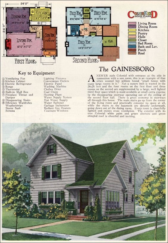 The gainsboro 1927 american builder magazine by william a for Colonial homes magazine house plans
