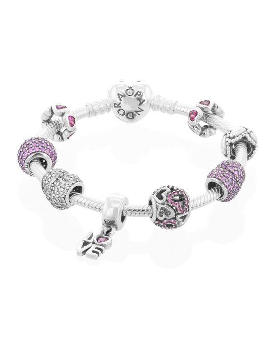 official pandora valentines complete bracelet from th baker shop our luxury jewellery - Pandora Valentines Bracelet