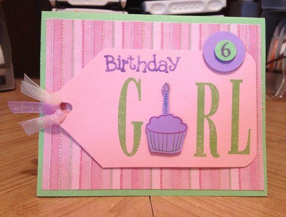 pinterest girl birthday cards | Girl birthday card