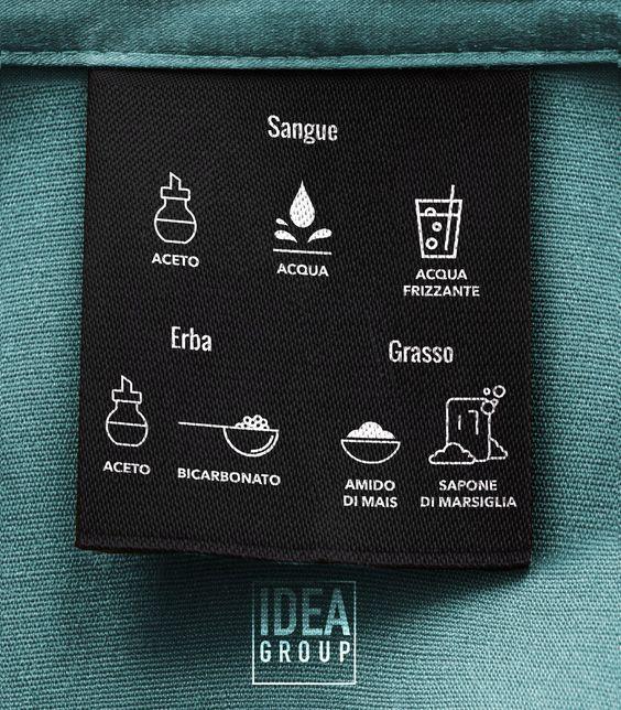 Sangue, erba e grasso sono macchie difficili da eliminare dai vestiti. Ecco una semplice infografica con i prodotti naturali migliori per eliminare le macchie, da appendere in lavanderia o nel vostro bagno! #tutorial