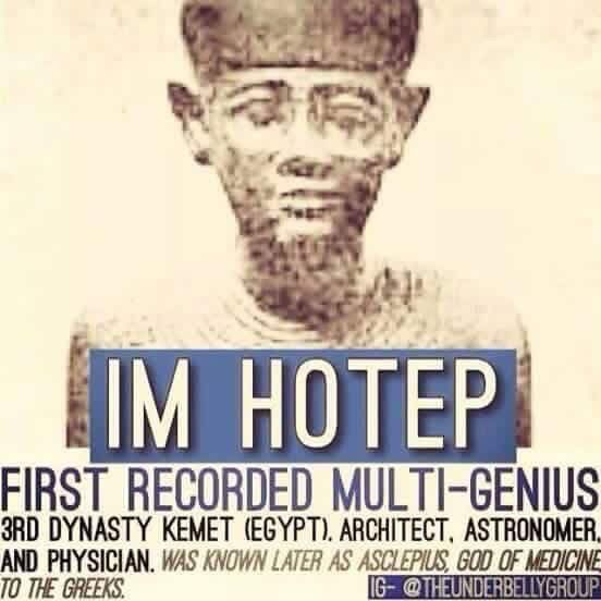Image result for Imhotep, the Multi-genius, pictures