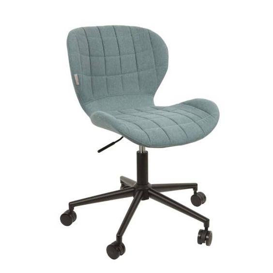 Stuhl OMG hat eine angenehm geformte Sitzfläche, die für bequemes Sitzen sorgt, auch wenn die Arbeit am Schreibtisch mal etwas länger dauert. Die Sitzschale ist angenehm weich gepolstert und mit einem hochwertigen Stoff bezogen. Das Untergestell ist aus Metall mit einer hochwertigen schwarzen Pulverbeschichtung und gleitet auf 5 Rollen.Die sagenhafte Verarbeitung und das formschöne Design sorgen für vielfältige Kombinationsmöglichkeiten mit Schreibtischen in unterschiedlichster Ausführung.