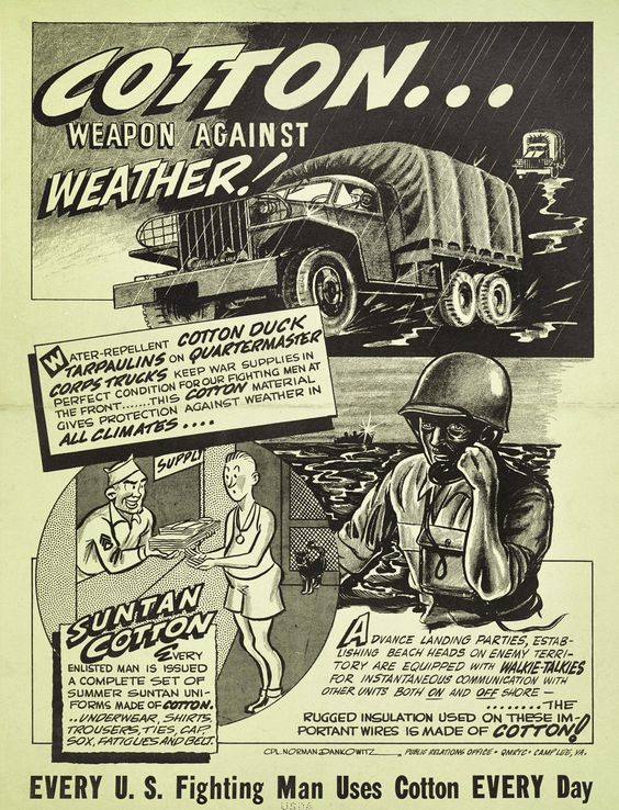 COTTON ... WEAPON AGAINST WEATHER! poster (1944)