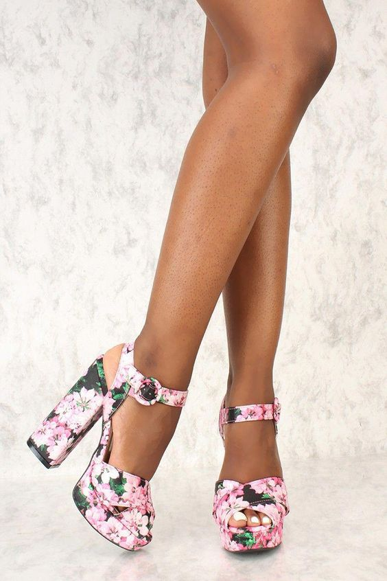 Pretty Ankle Strap Shoes