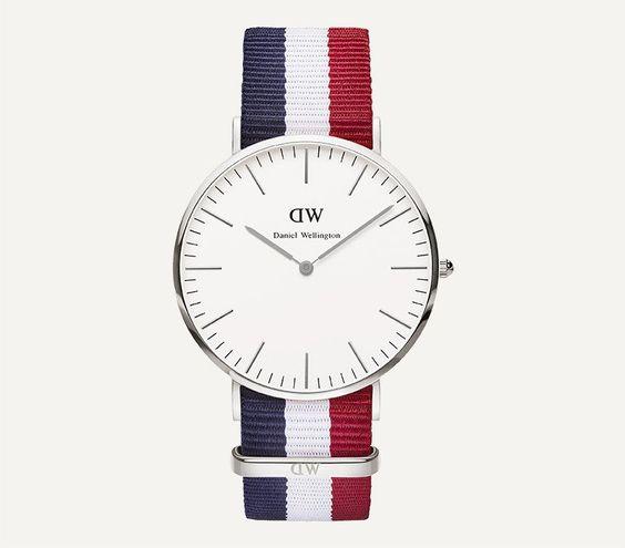 Daniel Wellington Silver 40mm Classic Cambridge Watch