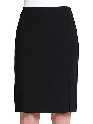 Akris Architecture Collection Double-Face Wool Pencil Skirt<br>