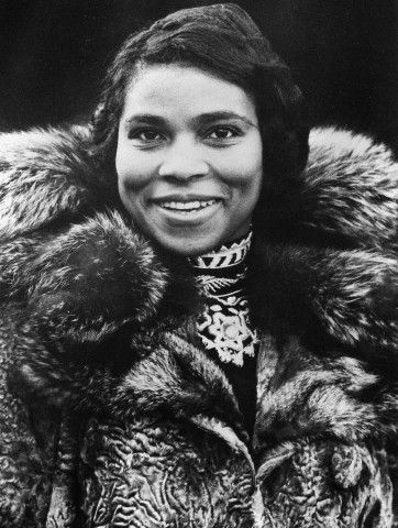 Marian Anderson, the elegant and groundbreaking contralto who was the first African American to sing at the Metropolitan Opera: