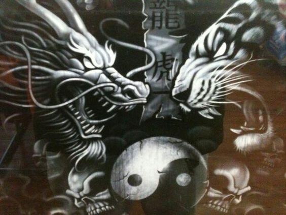Dragon And Tiger Meditation  Tatoo Pinterest