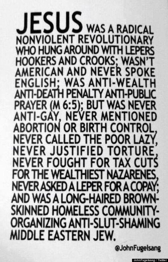 falando em Jesus...