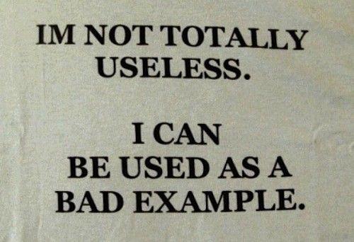 Not totally useless.