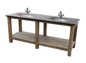 meuble meuble lavabo 2 vasques pierre bleue mobilier. Black Bedroom Furniture Sets. Home Design Ideas