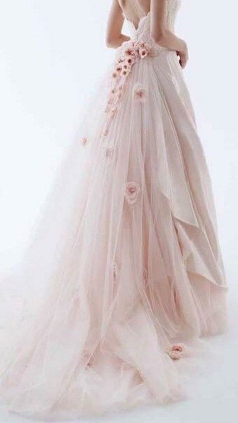 Pink prom dresses, Tulle prom dress