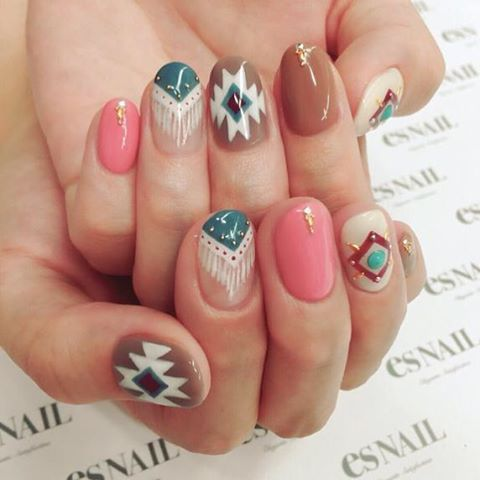 #nails #native pattern