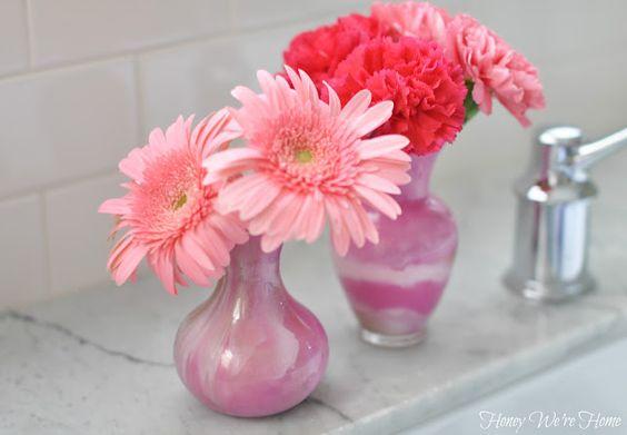 Honey We're Home: DIY (Paint Swirl Vases)
