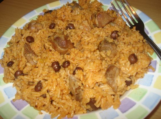 Puerto Rican Pigeon Pea Rice... my sister used to make this!  I can't wait to make it!