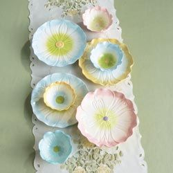 Pretty pastel tableware