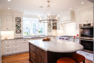 Light fixture kitchen nook. Design under hood RAE Design Group - traditional - kitchen - newark - by Pennville Custom Cabinetry