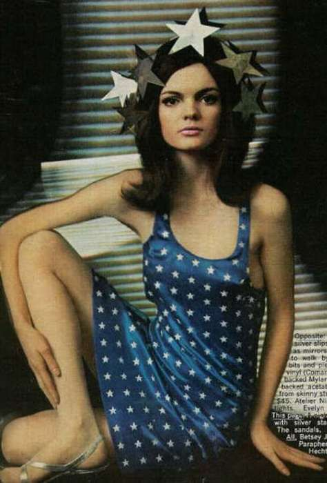 Linda Morand wearing Betsey Johnson, 1960's: